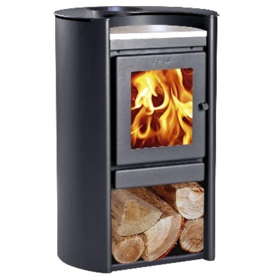Ενεργειακή σόμπα ξύλου Amesti Rondo 450 για χώρους 40-145 τ.μ.