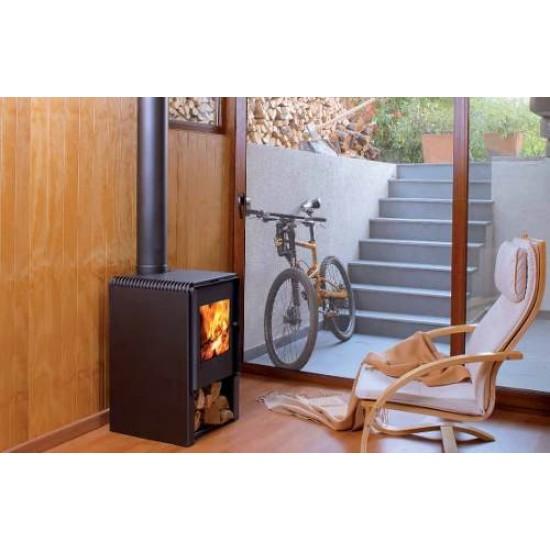 Ενεργειακή σόμπα ξύλου Amesti Scantek 450 για χώρους 80-180 τ.μ.