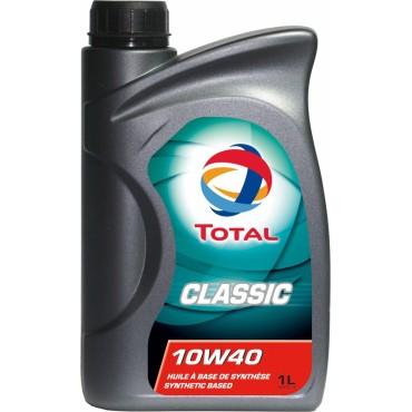 Συνθετικό λάδι κινητήρα TOTAL CLASSIC 10W40 1lt