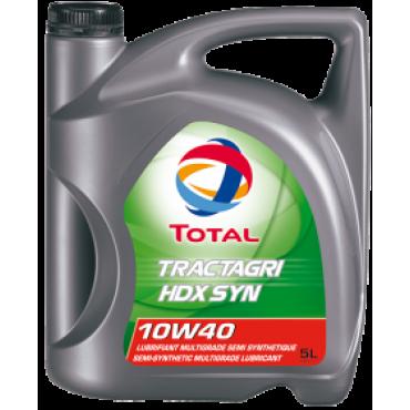 ΗμιΣυνθετικό λάδι κινητήρα TOTAL TRACTAGRI HDX SYN 10W40 5lt