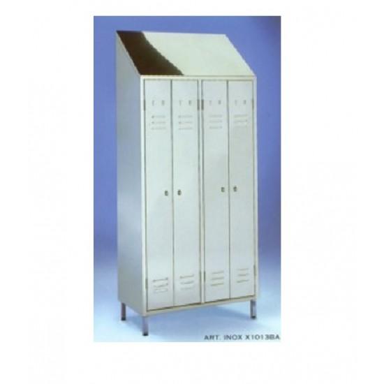 Ανοξείδωτη ντουλάπα - ιματιοθήκη Nieros KSD με 4 πόρτες