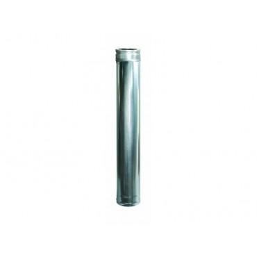 Ανοξείδωτη καπνοδόχος πάχους 0,40mm μήκους 1m Φ130
