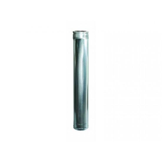 Ανοξείδωτη καπνοδόχος πάχους 0,40mm μήκους 1m Φ150