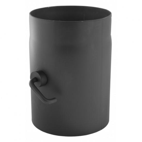 Κλαπέτο καμινάδας 2mm μαύρου χάλυβα Φ130