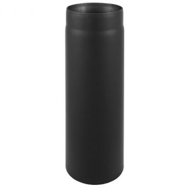 Καπνοδόχος μαύρου χάλυβα 1m Φ130 πάχους 2mm για τζάκια και σόμπες
