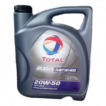 Λιπαντικό κινητήρα TOTAL RUBIA FLEET HD 400 20W50 4lt
