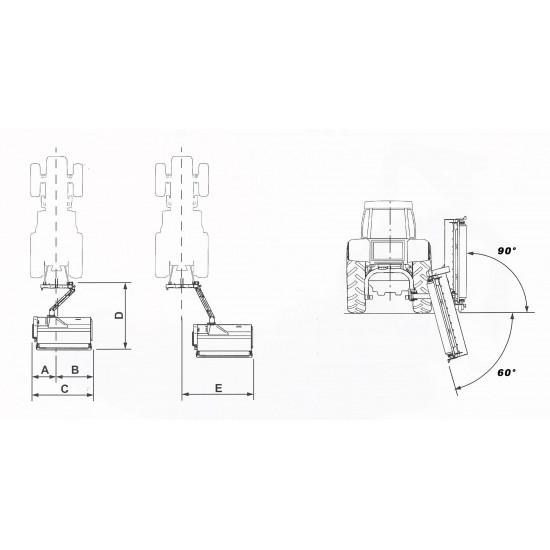 Καταστροφείς χόρτων με ωφέλιμο πλάτος κοπής 160-220cm GIEMME TRINCIA BCM για τρακτέρ 50-120hp