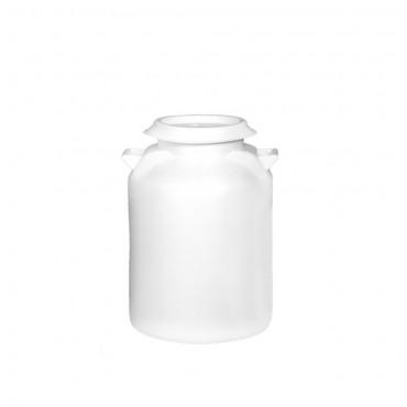 Δοχείο γάλακτος 40 λίτρων με καπάκι σε λευκό χρώμα