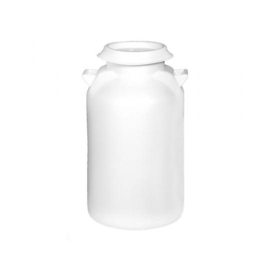 Δοχείο γάλακτος 50 λίτρων με καπάκι σε λευκό χρώμα