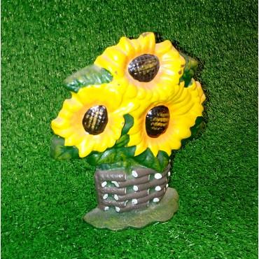 Πήλινο διακοσμητικό λουλούδι SUNFLOWER