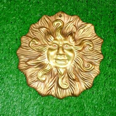 Πήλινο διακοσμητικό ήλιος χρωματιστό