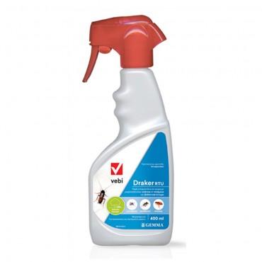 Εντομοκτόνο Draker RTU 400ml για κουνούπια, μύγες, μυρμήγκια κ.λ.π
