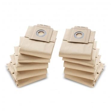 Φιλτρόσακοι (σακούλες) χάρτινες για σκούπες Kärcher 6.904-333 (10 τμχ.)