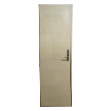 Πόρτα ξύλινη μπεζ με κάσωμα