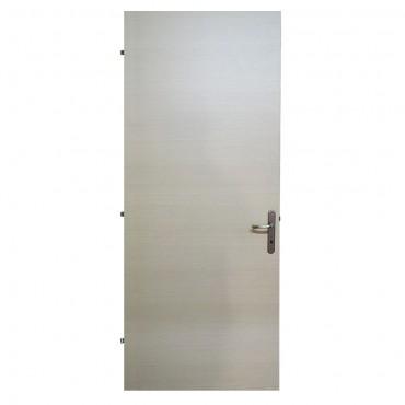 Πόρτα ξύλινη καφέ ανοιχτό με κάσωμα