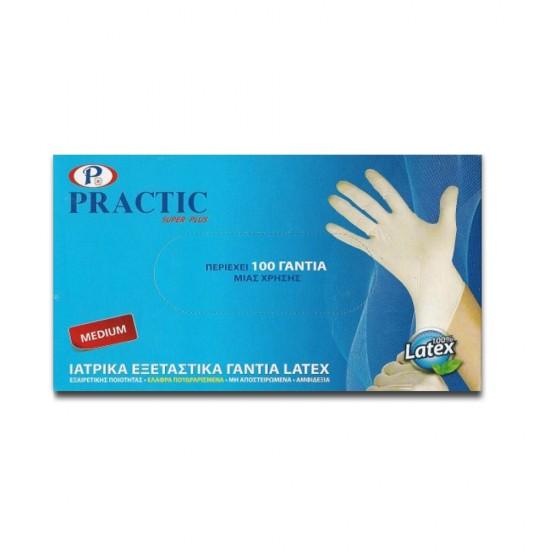 Ιατρικά εξεταστικά γάντια μιας χρήσης PRACTIC λευκά (100 τεμ.)