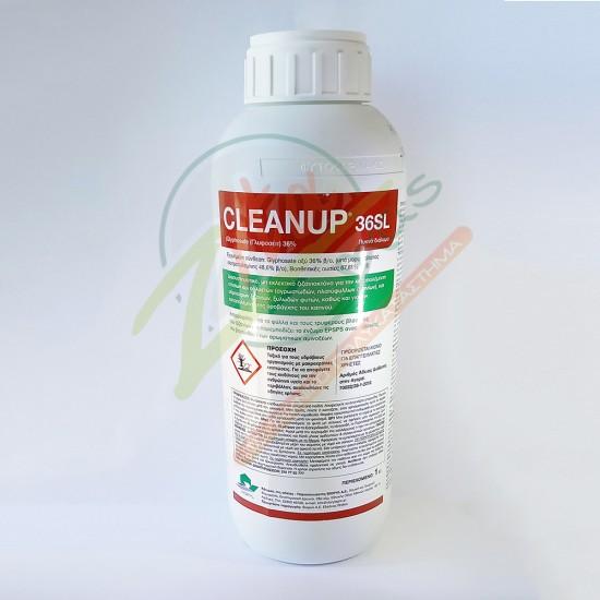 Διασυστηματικό ζιζανιοκτόνο CLEANUP 36SL 1lt (Γλυφοζέιτ)