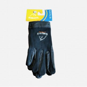 Γάντια ιππασίας συνδυασμός ύφασμα-δέρμα HORSETECH ΗΤ-2351