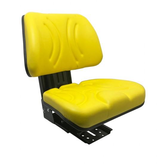 Κάθισμα τρακτέρ με γλυσιέρα χωρίς μπράτσα ίσιο YZ-12.AK (κίτρινο)